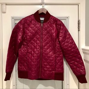 Columbia quilted bomber jacket